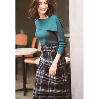 ジャスグリッティー(JUSGLITTY)のJUSGLITTY ロービングチェックタイトスカート 0(ひざ丈スカート)