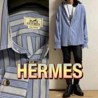 エルメス(Hermes)の【美品】HERMES ストライプ シャツ(シャツ)