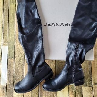 ジーナシス(JEANASIS)の☆ ジーナシス ロングブーツ ローヒール Mサイズ(ブーツ)
