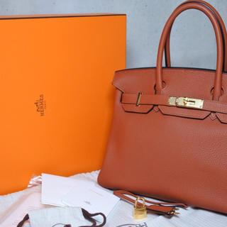 エルメス(Hermes)のエルメス バーキン30 キュイーブル X刻印 新品同様 ゴールド金具 ブラウン(ハンドバッグ)
