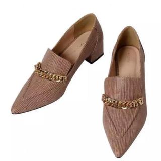 エイミーイストワール(eimy istoire)のグレインチェーンローファー💕(ローファー/革靴)