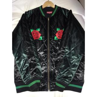 シュプリーム(Supreme)のsupreme rose bomber jacket iwa様専用(スタジャン)