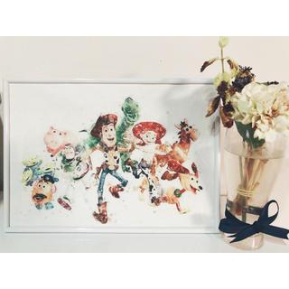 ディズニー(Disney)のアートポスター 水彩画 ディズニー 額付き トイストーリー(アート/写真)