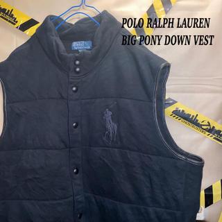 ポロラルフローレン(POLO RALPH LAUREN)のPolo Ralph Lauren ビッグ ポニー 刺繍 ダウン ベスト 古着(ダウンベスト)