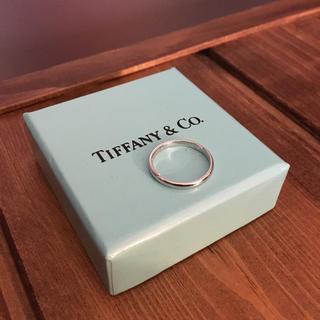 ティファニー(Tiffany & Co.)のティファニー プラチナ シンプル バンド リング 7.5号 指輪 Pt950(リング(指輪))