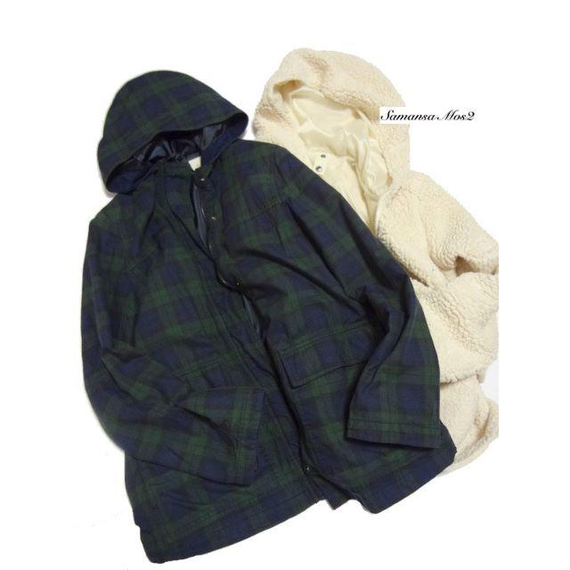 SM2(サマンサモスモス)の◆SM2/サマンサモスモス◆ M ライナー付きブラックウォッチジャンパー レディースのジャケット/アウター(ブルゾン)の商品写真