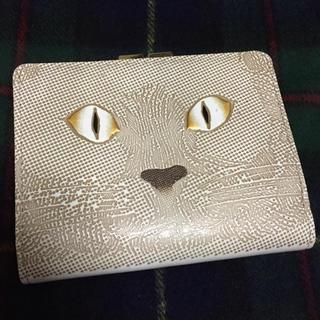 アッシュペーフランス(H.P.FRANCE)のお取り置き中です 水金の文庫革  がま札財布 猫目(財布)