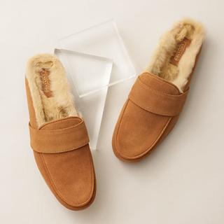 ドゥーズィエムクラス(DEUXIEME CLASSE)の新品 CAMINANDO カミナンド 別注FUR LINED SLIP ON(ローファー/革靴)
