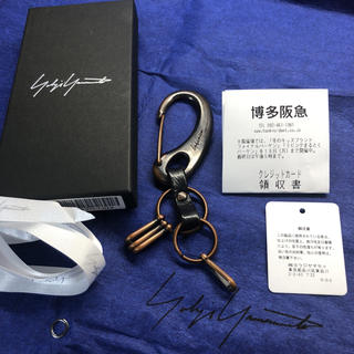 ヨウジヤマモト(Yohji Yamamoto)のyohji yamamoto ヨウジヤマモト カラビナ 18ss マットブラック(キーホルダー)