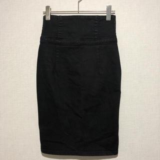 ルシェルブルー(LE CIEL BLEU)のアンシャントマン enchantement...? ハイウエストスカート黒(ひざ丈スカート)