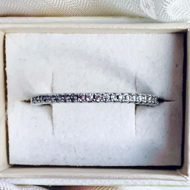 リング K18RGP  ホワイトゴールド スワロスキー 11号 レディースのアクセサリー(リング(指輪))の商品写真