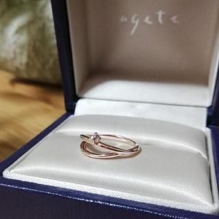 アガット(agete)のagete/ピンキーリング/K10/天然石(リング(指輪))