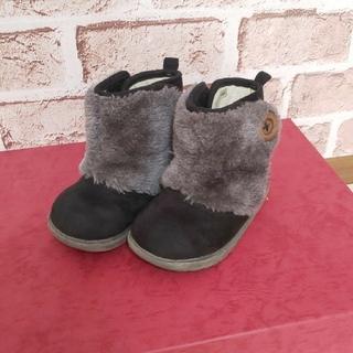 ニシマツヤ(西松屋)の【ベビー キッズ】西松屋 もこもこ ファーブーツ 14cm スエード 靴 秋冬 (ブーツ)