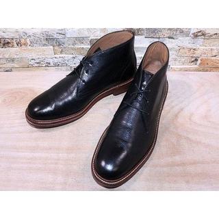 コールハーン(Cole Haan)の1度使用品 コールハーン プレーントゥチャッカブーツ 黒 2828,5cm(ブーツ)