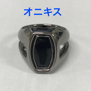 オニキスシルバーリング 新品未使用 19号(リング(指輪))