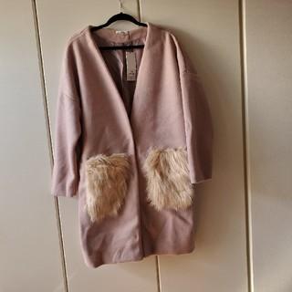 アベイル(Avail)の大きいサイズ 4L ポケットファーコート(毛皮/ファーコート)