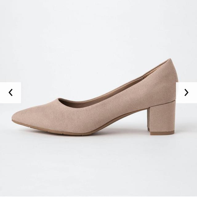 UNIQLO(ユニクロ)の【 新品 】ユニクロ UNIQLO チャンキー ヒール パンプス 25cm レディースの靴/シューズ(ハイヒール/パンプス)の商品写真