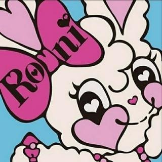 ロニィ(RONI)のリアママ様専用★ピンク×ブラックニーハイソックス★M(靴下/タイツ)