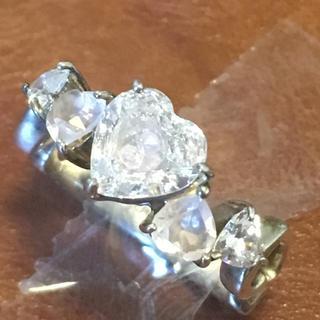 ヨンドシー(4℃)の美品 レア 4°C ヨンドシー ハート ジルコニア リング シルバー製(リング(指輪))