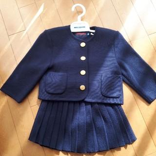 ミキハウス(mikihouse)の美品 ミキハウス ジャケット スカート ニット 上下セット セレモニー スーツ (ドレス/フォーマル)