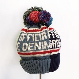 デニムダンガリー(DENIM DUNGAREE)のデニム&ダンガリー ポンポン付きニット帽 46㎝~ 12171(帽子)