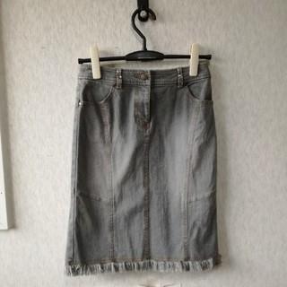 ミッシェルクラン(MICHEL KLEIN)のMICHEL KLEIN デニムスカート(ひざ丈スカート)