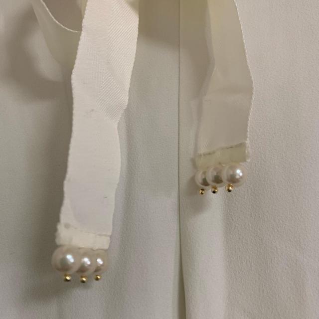 Chesty(チェスティ)のモンストーク☆パールリボンパンツ☆未使用タグ付き レディースのパンツ(カジュアルパンツ)の商品写真