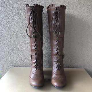 アクシーズファム(axes femme)のアクシーズファム レースアップロングブーツ(ブーツ)