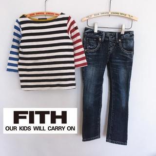 フィス(FITH)のFITH ボーダーロンT・デニムセット 110㎝ 12198(Tシャツ/カットソー)