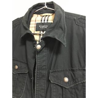 バーバリーブラックレーベル(BURBERRY BLACK LABEL)のBURBERRY BLACK LABEL スナップボタンシャツジャケット(ミリタリージャケット)