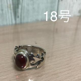 指輪 リング シルバー 男女 18号 赤(リング(指輪))