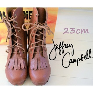 JEFFREY CAMPBELL - 未使用定価24000円 ジェフリーキャンベル ショートブーツ 23cm ブラウン