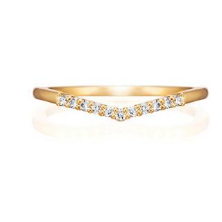 ヨンドシー(4℃)の美品❗️4℃ k18 ダイヤモンドリング(リング(指輪))