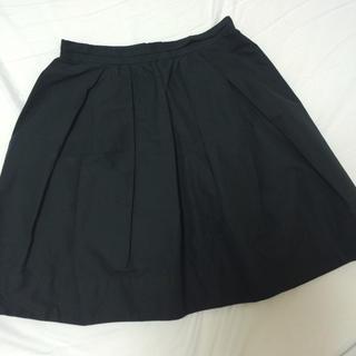デミルクスビームス(Demi-Luxe BEAMS)のネイビー膝丈スカート(ひざ丈スカート)
