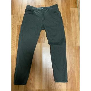 UNIQLO - ユニクロ スキニー深緑 M ウエスト76-84cm 裾直し股下から65cm
