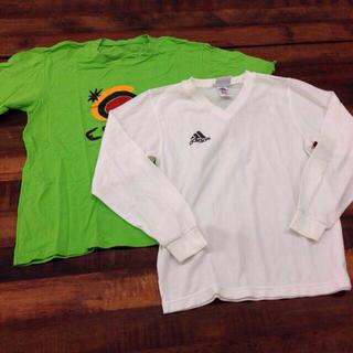 アディダス(adidas)のサッカー スポーツトップス2枚セット(Tシャツ/カットソー(七分/長袖))