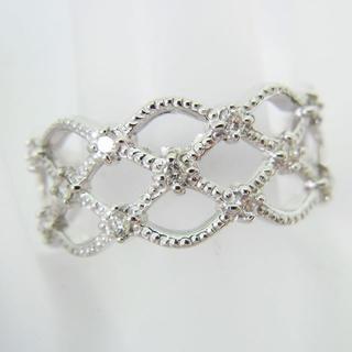 K18WG ダイヤモンド リング 10.5号 [g88-6](リング(指輪))