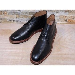 コールハーン(Cole Haan)の1度使用品 コールハーン プレーントゥチャッカブーツ 黒 28,529cm(ブーツ)