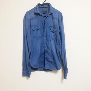 ザラ(ZARA)の送料無料 ZARA 長袖 デニムシャツ 36 ブルー ザラ トップス 長袖シャツ(シャツ)