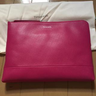 ティファニー(Tiffany & Co.)の新品☆ティファニー ジップポーチ ラズベリー ラージサイズ(ポーチ)
