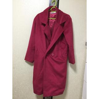 グレイル(GRL)の赤ローズ色    長コート(ロングコート)