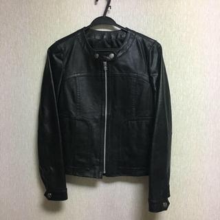 ユニクロ(UNIQLO)の美品 リアルレザージャケットセオリー/イエナ/23区(ライダースジャケット)