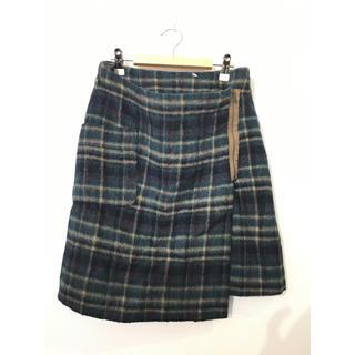 Partisan ウールチェック柄スカート#Cattleya(ひざ丈スカート)