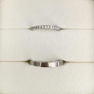 ポンテヴェキオ(PonteVecchio)のポンテヴェキオ ダイヤモンド ペア リング Pt900 0.15ct 6.8g(リング(指輪))