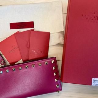 ヴァレンティノガラヴァーニ(valentino garavani)のヴァレンティノ ピンク長財布(財布)