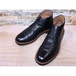 コールハーン(Cole Haan)の定価5万円 コールハーン プレーントゥチャッカブーツ 黒 26,527cm(ブーツ)