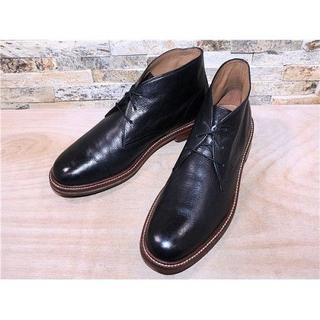 コールハーン(Cole Haan)の超美品 コールハーン プレーントゥチャッカブーツ 黒 2727,5cm(ブーツ)