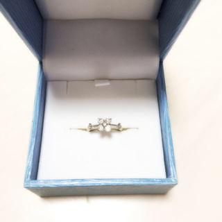 定価8万 K18WGダイヤピンキーリング(リング(指輪))