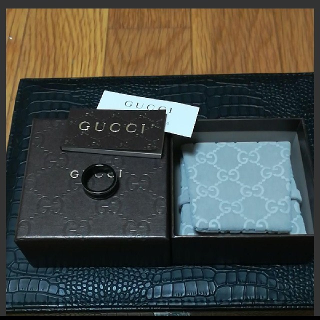 Gucci(グッチ)のグッチ アイコンリングブラックコランダム レディースのアクセサリー(リング(指輪))の商品写真