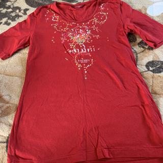ピンクハウス(PINK HOUSE)のピンクハウス Tシャツ 赤(Tシャツ(半袖/袖なし))